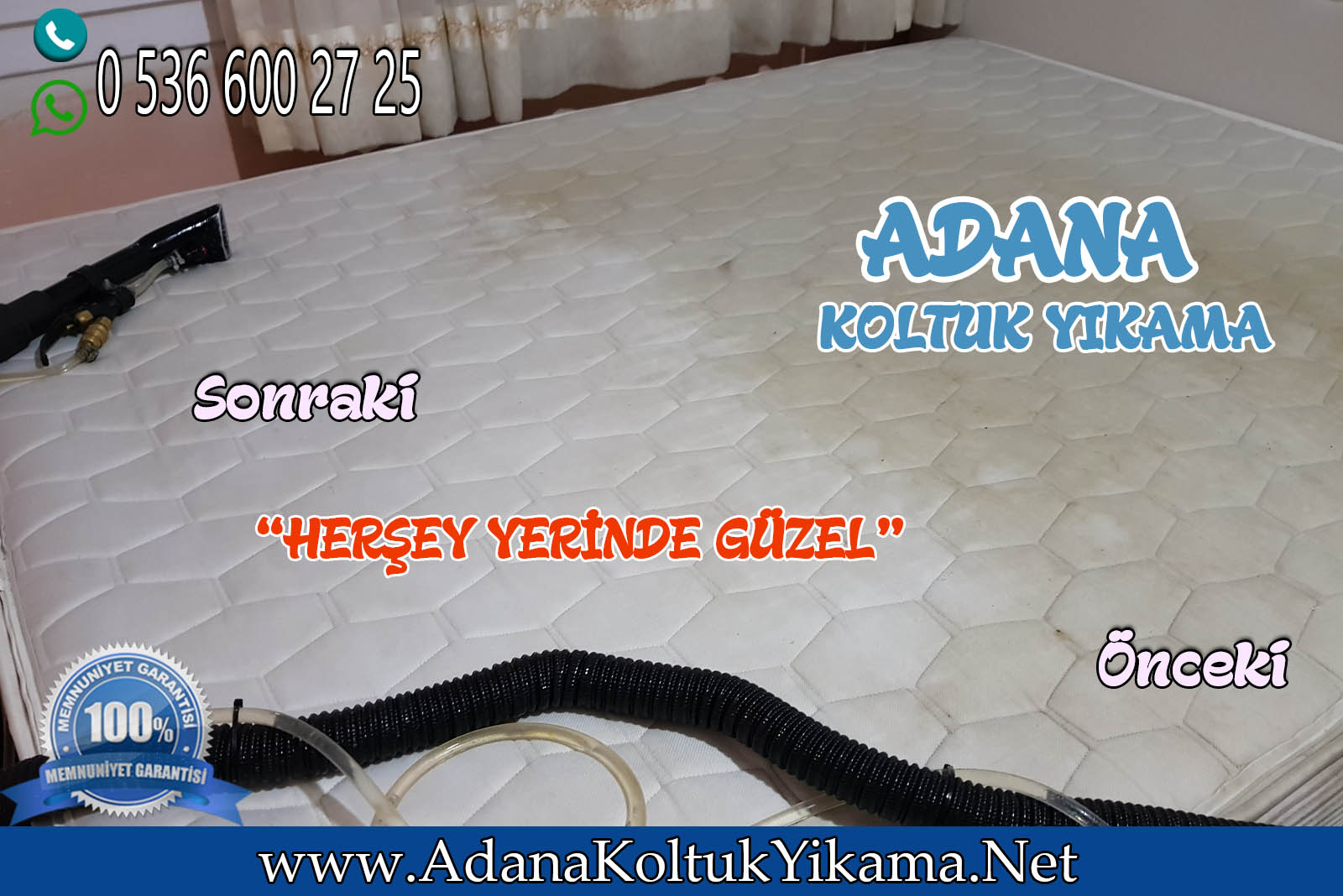 Adana Koltuk Yıkama + Mekan Yatak Yıkama ( Baraj Yolu )
