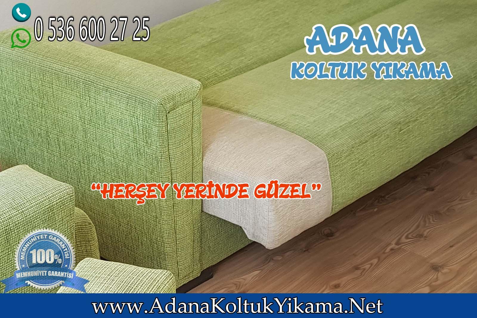 Adana Koltuk Yıkama 2000 Evler Çekyat + Mutfak Köşe Takımı Yıkama