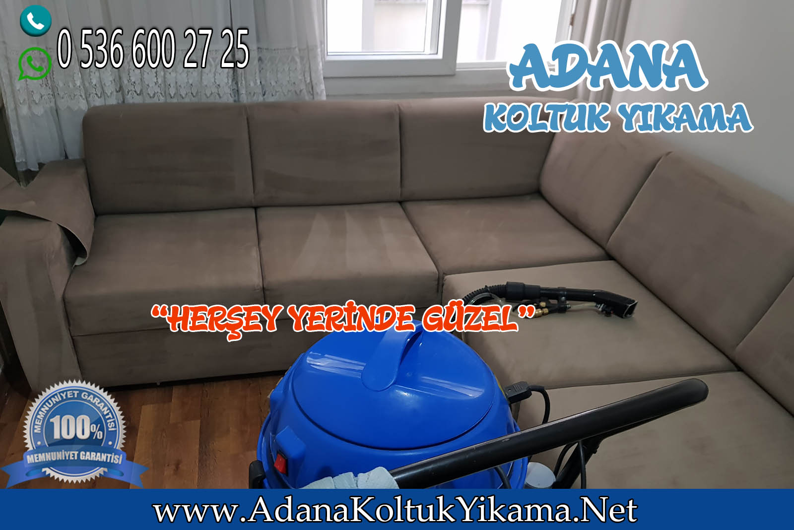 Adana Seyhan Koltuk Yıkama + Atatürk Caddesi + L Koltuk Yıkama